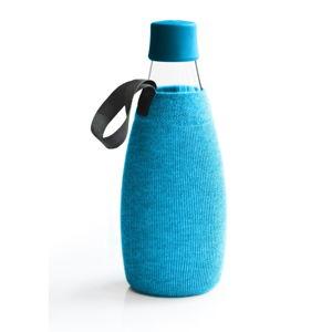 Světlemodrý obal na skleněnou lahev ReTap s doživotní zárukou, 800ml