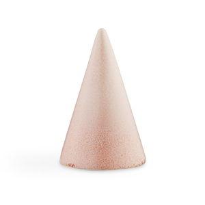Růžová kameninová dekorativní soška Kähler Design Glazed Cone Rose, výška 11 cm