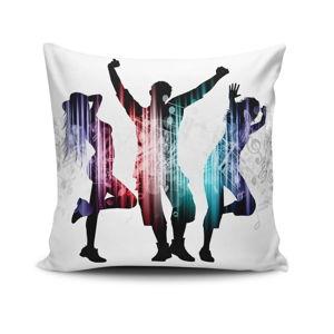 Povlak na polštář s příměsí bavlny Cushion Love Trio, 45 x 45 cm