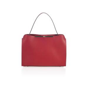 Červená kožená kabelka Lisa Minardi Ganna