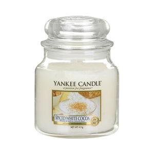 Vonná svíčka Yankee Candle Bílé Kakao s Kořením, doba hoření 65 - 90 hodin