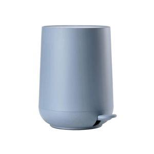 Modrý pedálový koš do koupelny Zone Blue Fog, 5l