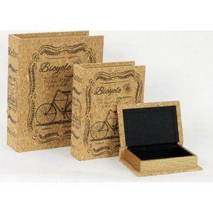 Autronic Krabička ve tvaru knihy, sada 3 kusy - FK3003