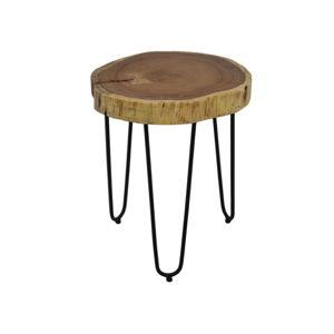 Odkládací stolek z akáciového dřeva HSMcollection, Ø 35 cm
