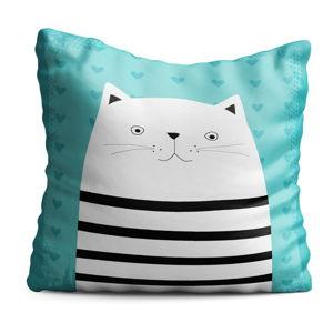 Dětský polštář OYO Kids Animals With Stripes Cat, 40 x 40 cm