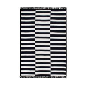 Černo-bílý oboustranný koberec Poros, 120 x 180 cm