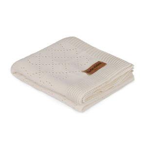 Béžová dětská přikrývka z čisté bavlny, 80 x 100 cm