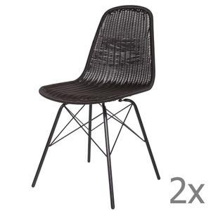 Sada 2 černých židlí BePureHome Spun