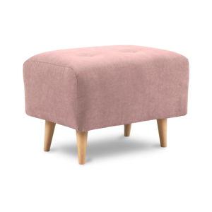 Světle růžová podnožka Kooko Home Twist
