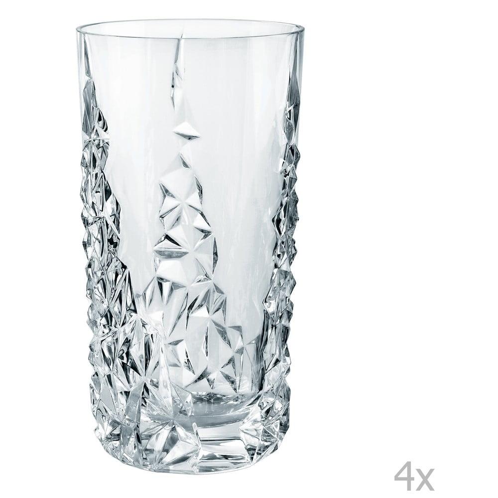 Sada 4 vysokých sklenic z křišťálového skla Nachtmann Sculpture Longdrink, 420 ml