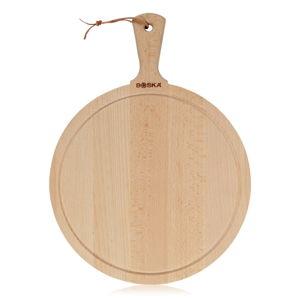 Servírovací prkénko z naolejovaného bukového dřeva Boska Serving Board Round Amigo, 44,5 x 33 cm