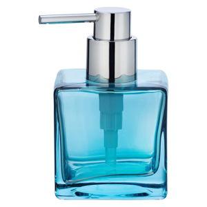 Modrý skleněný dávkovač na mýdlo Wenko Lavit, 280ml