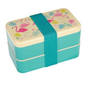Dvoupatrová krabička na oběd Rex London Flamingo Bay