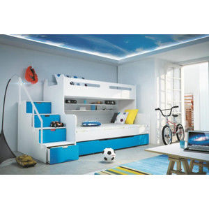 Falco Dětská patrová postel Maty modrá