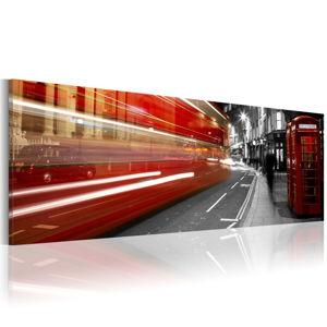 Obraz na plátně Artgeist London Rush Hour, 120x40cm