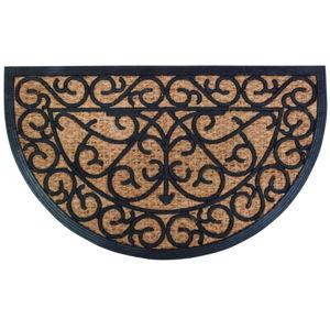 Gumová půlkruhová rohožka s kokosovým vláknem Esschert Design Ornamental