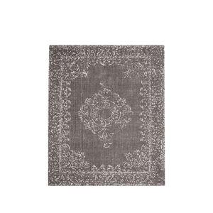 Šedý bavlněný koberec LABEL51 Vintage, 160x140cm