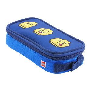 Modré hranaté pouzdro na tužky LEGO® Faces