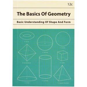 Zápisník s geometrickými tvary o formátu A6 linkovaný Rex London, 60stran