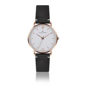 Pánské hodinky s černým páskem z pravé kůže Frederic Graff Rose Dent Blanche Black