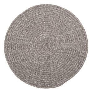 Hnědé prostírání s příměsí bavlny Tiseco Home Studio,ø38cm