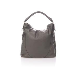 Tmavě šedá kožená kabelka Markese Ursine