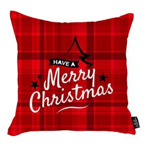 Červený vánoční povlak na polštář Apolena Honey Have a Merry Christmas, 45x45cm