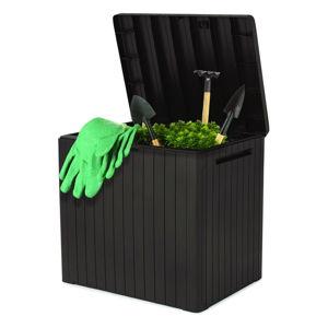 Černý zahradní úložný box Keter, 44 x 55 cm