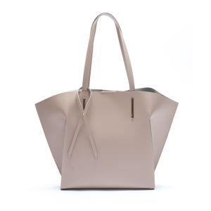 Béžová kožená kabelka Mangotti Caritta