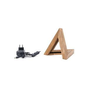 Dřevěné stolní svítidlo Triangle