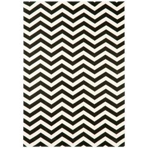 Černo-bílý koberec Asiatic Carpets Zig Zag, 160 x 230 cm