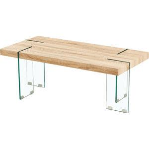 Tempo Kondela Konferenční stolek PROSPER - dub sonoma / čiré sklo + kupón KONDELA10 na okamžitou slevu 10% (kupón uplatníte v košíku)