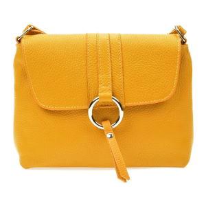 Žlutá dámská kožená kabelka Anna Luchini Lucca