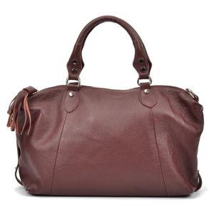 Vínově červená kožená kabelka Mangotti Debra
