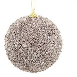 Sada 6 béžových plastových vánočních ozdob DecoKing Mocca