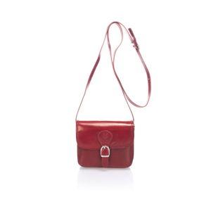 Červená kožená kabelka Lisa Minardi Sobralia