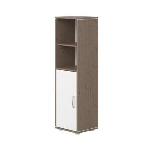 Hnědo-bílá dětská skříňka z borovicového dřeva Flexa Classic, výška 133 cm