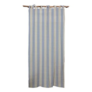 Modrý závěs Linen Cuture Cortina Hogar Blue Stripes