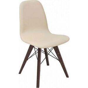 BRW Jídelní židle Azteca ULTRA TX1088 - béžová/dub wenge