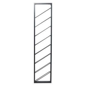 Černý kovový nástěnný stojan navíno Kare Design Bistro Uno, výška 160cm