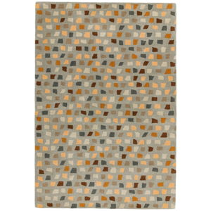 Koberec Asiatic Carpets Pixel Grey Multi, 160 x 230 cm