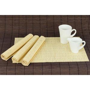 Autronic Bambusové prostírání (4 kusy) - přírodní barva DK5043