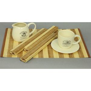 Autronic Bambusové prostírání (4 kusy) - hnědo bílé TH-022-1-S4
