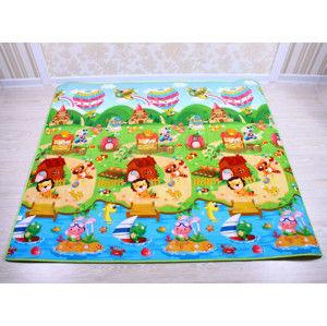Forclaire Dětský pěnový koberec - vlak + domek lva xxcm