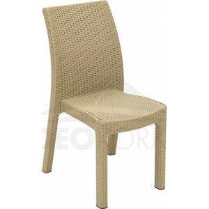 Deokork Zahradní židle z umělého ratanu PUKET (písková)