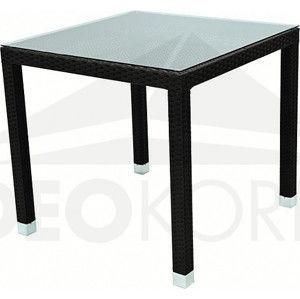 Deokork Zahradní ratanový stůl NAPOLI x cm (hnědá)