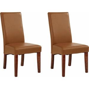 Sada 2 hnědých jídelních židlí Støraa Matrix