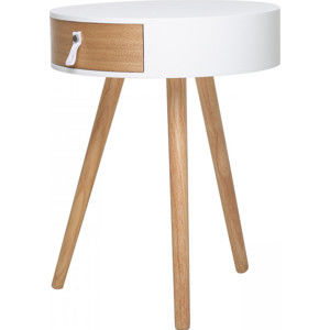 Idea Odkládací stolek CARPI bílý/borovice