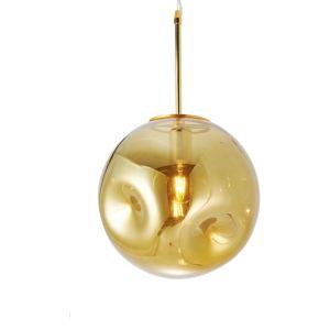 Závěsné svítidlo z foukaného skla ve zlaté barvě Leitmotiv Pendulum