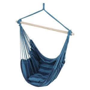 Tempo Kondela Závěsné houpací křeslo NIKOLO - modrá + kupón KONDELA10 na okamžitou slevu 3% (kupón uplatníte v košíku)